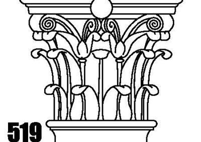 519 natural stone column cap