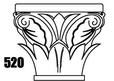 520 natural stone column cap