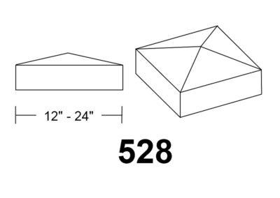 528 pyrmid square stone column caps