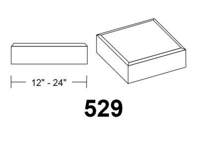 529 Chamfer Edge square stone column caps