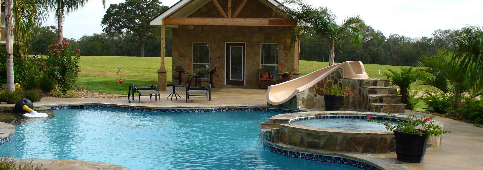 Waterfalls Pool Coping Patios Decordova Texas Tx